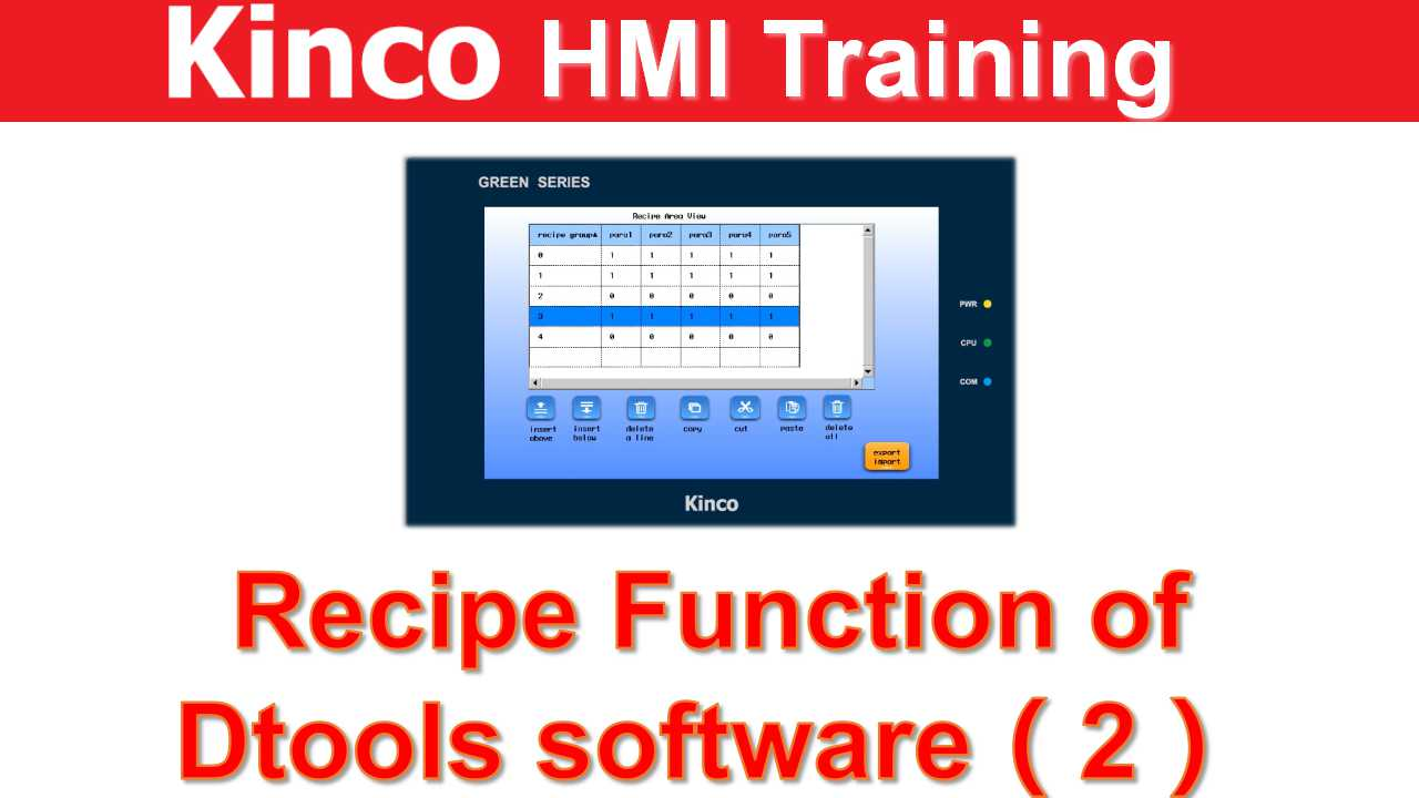 Recipe Function of Dtools software for Kinco Green series HMI(2)